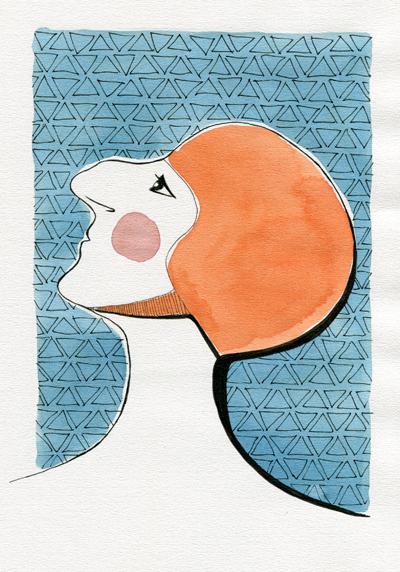 Woman in swimcap