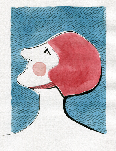 Woman in swimcap - swimcap #8, swimcap theme